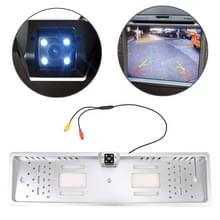 JX-9488 720x540 effectieve pixel NTSC 60 Hz CMOS II universele waterdichte auto achterzijde weergave back-up camera met 2W 80LM 5000K wit licht 4LED lamp  DC 12V  draadlengte: 4m (zilver)