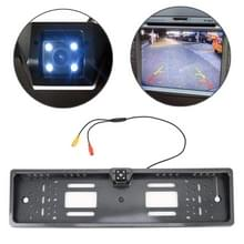 JX-9488 720x540 effectieve pixel NTSC 60 Hz CMOS II universele waterdichte auto Carbon Fiber achterzijde weergave back-up camera met 2W 80LM 5000K wit licht 4LED lamp  DC 12V  draadlengte: 4m