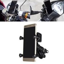 9-90V draagbare motorfiets X-type automatische vergrendeling USB-oplader mobiele telefoon houder