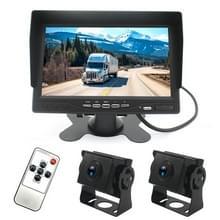 PZ612-2AHD IP67 120 graden auto AHD 1080P 2 Megapixels 7 inch voor-en achterzijde dubbele opname 2-weg achteruitkijkspiegel monitor  nachtzicht Full Color  met video functie