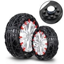 M4 auto rubber Thicken Tire Emergency anti-slip kettingen banden anti-slip kettingen