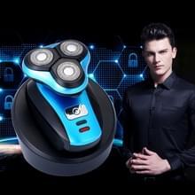 Draadloos opladen mannen drie-cutter scheerapparaat Razor  Size:10*10*10cm(Blue)