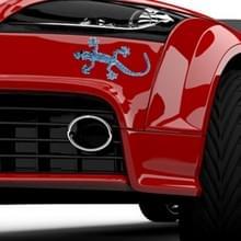 3D Car Decal Stickers metalen Gecko textuur wandshape met blauwe diamant  realistische Rich-ontwerp auto decoratie