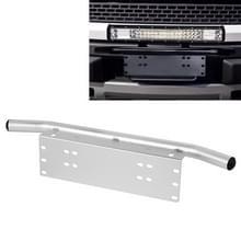 Jtron Light universele nummerplaat bumper frame voor off-road Jeep LED werk licht Bar Montagebeugel met voorste emmer (zilver)