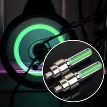 2 stks wiel band lamp met batterij voor auto/motor/fiets (groen licht)