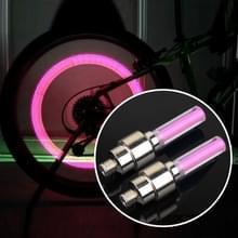 2 stk wiel band Lamp met accu voor auto / motor / fiets (rood licht)