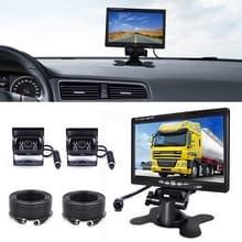 F0505 7 inch HD auto dual camera achteruitkijkspiegel monitor  met 10m kabel