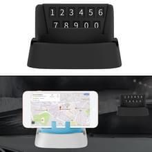 Multi-functionele creatieve Stereo rotatie tijdelijk kenteken parkeren / auto mobiele-telefoonhouder (zwart)