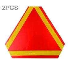 2 stuks achterzijde vrachtwagen Trailer driehoek Reflector veiligheid waarschuwing aluminium plaat  dikte: 1mm