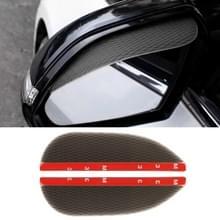 1 paar boor patroon pure zwarte universele auto achteruitkijkspiegel regen bladen auto terug spiegel wenkbrauw regen cover