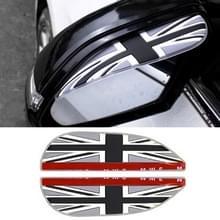 1 paar grijs vlag patroon universele auto achteruitkijkspiegel regen bladen auto terug spiegel wenkbrauw regen cover