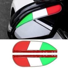 1 paar groen wit rood stijl universele auto achteruitkijkspiegel regen bladen auto terug spiegel wenkbrauw regen cover