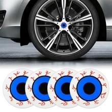 4 STKS auto-styling oog patroon metalen wiel hub decoratieve sticker  diameter: 5.8 cm