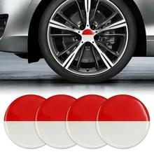 4 STKS auto-styling Indonesische vlag patroon metalen wiel hub decoratieve sticker  diameter: 5.8 cm
