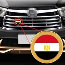 Auto-styling Egyptische vlag patroon metalen front grille grid insect netto decoratieve sticker willekeurige sticker  diameter: 5.4 cm (goud)