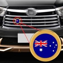 Auto-styling Australische vlag patroon metalen front grille grid insect netto decoratieve sticker willekeurige sticker  diameter: 5.4 cm (goud)
