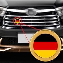Auto-styling Duitse vlag patroon metalen front grille grid insect netto decoratieve sticker willekeurige sticker  diameter: 5.4 cm (goud)