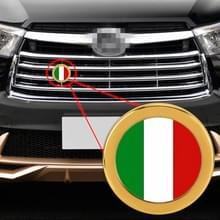 Auto-styling Italiaanse vlag patroon metalen front grille grid insect netto decoratieve sticker willekeurige sticker  diameter: 5.4 cm (goud)