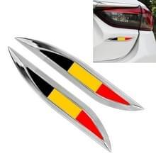 2 PC'S Duitse vlag patroon auto-styling sticker willekeurige decoratieve sticker