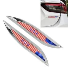 2 PC'S USA vlag patroon auto-styling sticker willekeurige decoratieve sticker