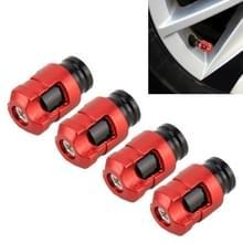 4 STKS klep vorm Gasdop mondstuk cover Tire Cap auto Tire Valve Caps (rood)