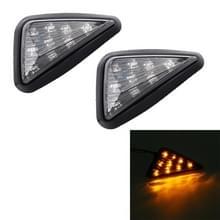 2 stks driehoek vorm DC 12V motorfiets 9-LED geel licht turn signaal indicator Blinker licht