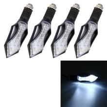4 STKS zwaard vorm DC 12V motorfiets 12-LED wit licht overdag draaien licht