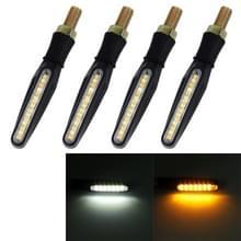 4 stuks DC 12V motorfiets 15-LED geel + wit licht Marquee-LED turn signaal indicator Blinker licht