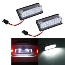 2 stks LED nummerplaat licht 18-SMD bollen lampen voor Nissan/Teana 03/Tada 03-08/Sylphy 2008/Sunny 2001-2006  2W 120LM  6000K  DC12V (wit licht)