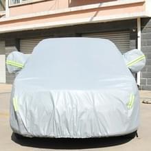 PVC anti-stof Sunproof sedan auto cover met waarschuwings stroken  geschikt voor Auto's tot 4 9 m (191 inch) in lengte