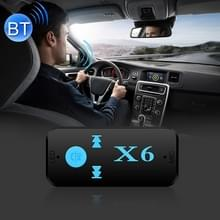 HQX6 Car Bluetooth V4.1 Audio Music Player Receiver Adapter  Support Wireless Hands-free & TF Card & USB Charge