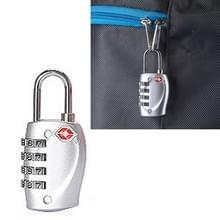 TSA combinatie 4 cijfers bagage reizen koffer veiligheid hangslot Lock kabel Lock douane TSA Bagage metalen Lock Password Lock anti-diefstal draad Lock(Silver)