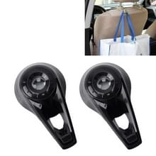 2 PC's universele autostoel terug Bag Hanger houder Auto hoofdsteun Bagage Hook(Black)