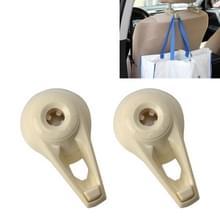 2 PC's universele autostoel terug Bag Hanger houder Auto hoofdsteun Bagage Hook(Beige)