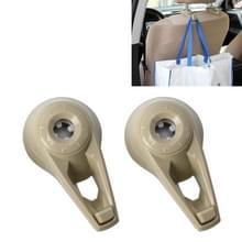 2 PC's universele autostoel terug Bag Hanger houder Auto hoofdsteun Bagage Hook(Apricot)