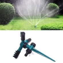 Automatische 360 roterende verstelbare tuin water sprinklers gazon irrigatiesysteem met 3 arm sproeiers en Spike base