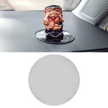 Auto Auto ronde zachte rubberen Dashboard antislip Pad Mat voor telefoon / GPS / MP4 / MP3  Diameter: 8 cm (transparant)