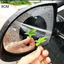 Auto ronde PET achteruitkijkspiegel beschermende Window Clear anti-mist waterdichte regen schild film  diameter: 8cm