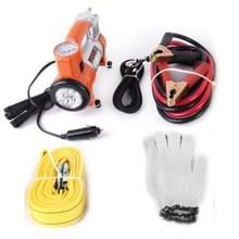 Eerst veilig langs de weg nood auto en vrachtwagen Kit met veiligheid Tools en accessoires zak: Jumper Kabels voor accu Auto Air Compressor EHBO 3 m × 4 cm 2 Tone Tow Rope driehoek zaklamp Survival bijstand
