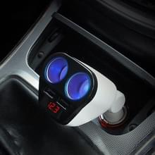 ACCNIC 2 multifunctionele sigaret Socket lichter Splitter met 2 USB poorten 3.2a telefoon auto-oplader