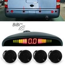 Digitale LED Crescent vorm Display achteruitkijkspiegel auto Recorder voor vrachtwagen met 4 achteraan Radar
