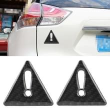 2 PC's auto-Styling driehoek koolstofvezel waarschuwing Sticker decoratieve Sticker(Black)