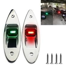 D2944 1W 12V Marine Boot waterdichte navigatie LED kant Bow Tear Drop lichten (groen en rood)