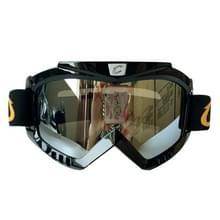 Motorhelm masker rijden bril Set buiten Wind en zand resistente Off-road Harley Goggles verwijderbare Masks(Silver)