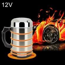 DC 12V RVS auto elektrische ketel verwarmd mok beker met lader sigarettenaansteker verwarming voor auto  capaciteit: 880ML