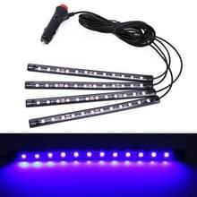 4 in 1 universele auto LED sfeer lichten kleurrijke verlichting decoratieve lamp  met 48LEDs SMD-5050 lampen  DC 12V 3.7 W (blauw licht)