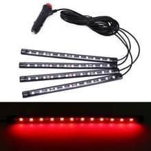 4 in 1 universele auto LED sfeer lichten kleurrijke verlichting decoratieve lamp  met 48LEDs SMD-5050 lampen  DC 12V 3.7 W (rood licht)