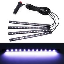 4 in 1 universele auto LED sfeer lichten kleurrijke verlichting decoratieve lamp  met 48LEDs SMD-5050 lampen  DC 12V 3.7 W (wit licht)
