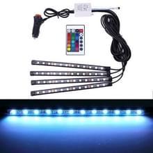 4 in 1 universele auto kleurrijke LED sfeerverlichting kleurrijke verlichting decoratieve lamp  met 48LEDs SMD-5050 lampen en afstandsbediening  DC 12V 7W
