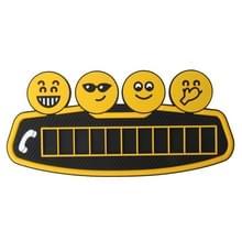 Cartoon lachend gezicht kaart tijdelijke auto parkeren Tag parkeerkaart parkeren